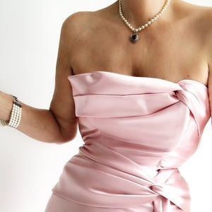 Vintage Jessica McClintock Marilyn Draped Gown